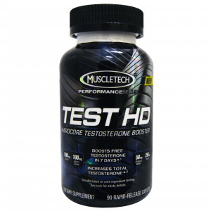 Test HD, Hardcore Testosterone Booster, 90 Caplets