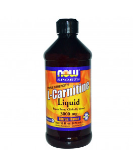 L-Carnitine Liquid, Triple Strength, Citrus Flavor, 3000 mg, 16 fl oz 473 ml