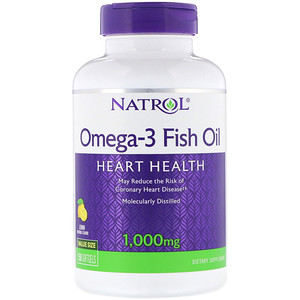 Omega-3 Fish Oil, Lemon Flavor, 1000 mg, 150 Softgels