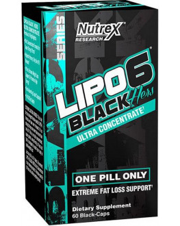 Labs, Lipo 6 Black Hers, Ultra Concentrate, 60 Black-Caps