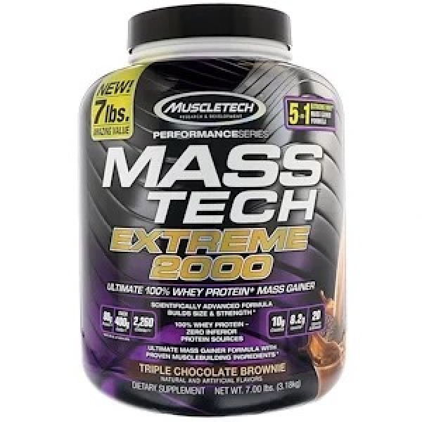 Muscletech, Mass Tech Extreme 2000 - 7 lbs  3.18 kg