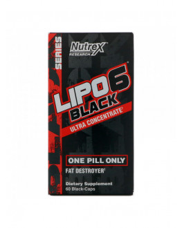 Lipo 6 Black Ultra, 60 Black-Caps ليبو 6 حارق الدهون